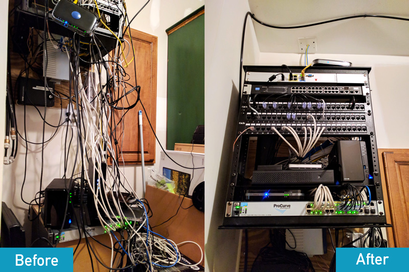 Network Closet Cleanup - Before and After!